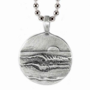 Lefts Rights Wave Pendant