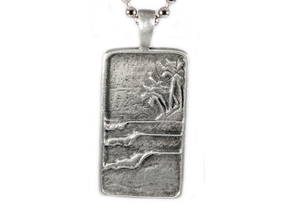 Surf Tag Wave Pendant