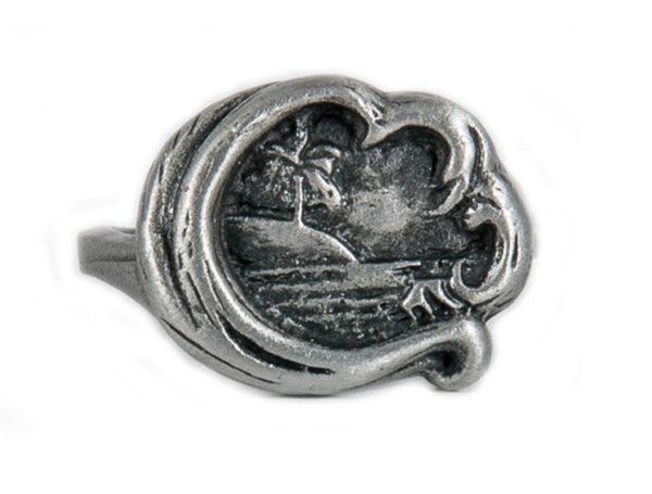 Mermaid Ocean Wave Curl Ring